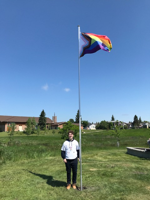 Raising the flag for equality, for human rights, for love, for happiness.