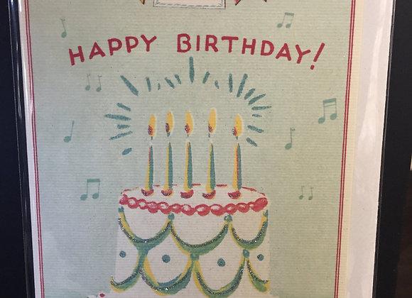 """Happy Birthday"" Cake Card"