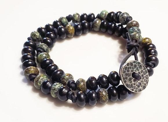 Black Onyx & Turquoise Jasper Bracelet