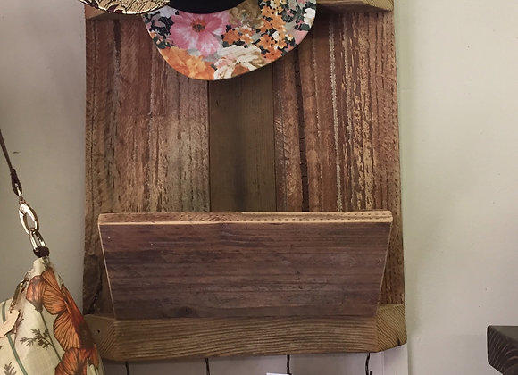 Entryway Organizer (reclaimed wood)