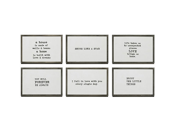 Metal/Glass Frame with Saying