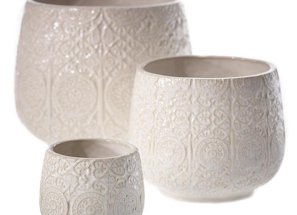 Francis Pot (6 x 4.25) white