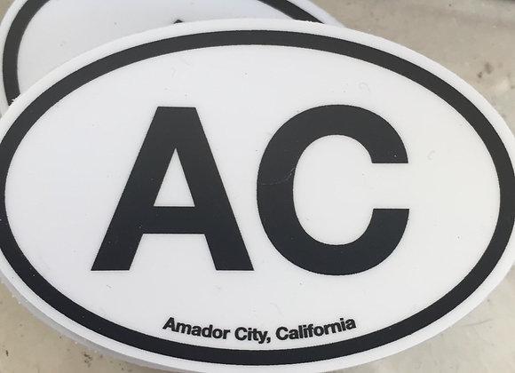 """""""AC"""" Amador City sticker"""