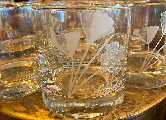 poppies cocktail glass