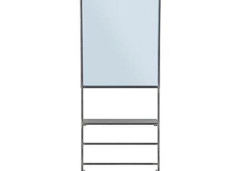 Metal Wall Mirror w/Rack