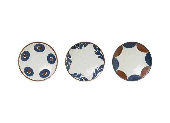 "6.25"" Blue/Brown/White Plate"