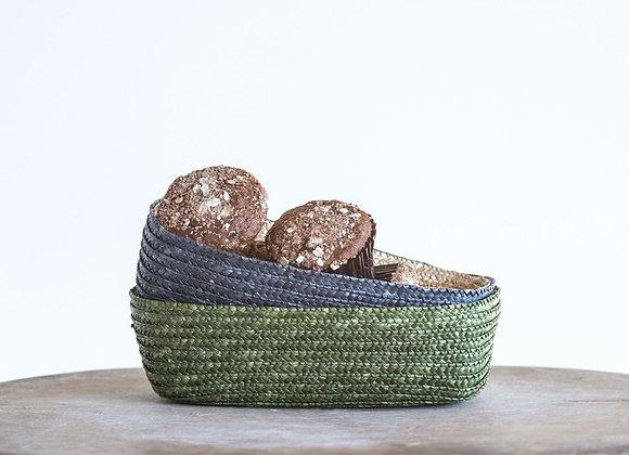 Green Woven Bread Basket
