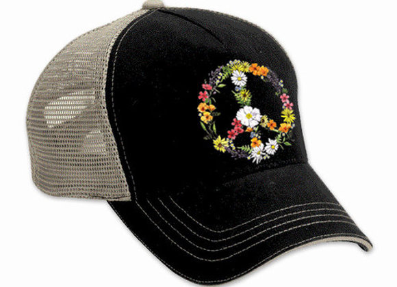 Floral Peace Sign Hat