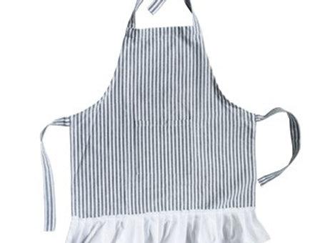Child's Cotton Striped Apron w/ Ruffle