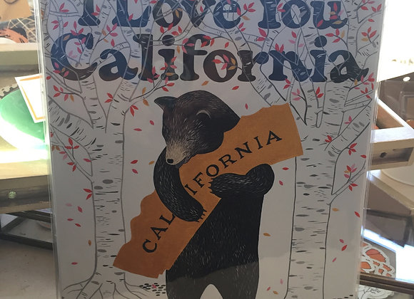 California Bear Print