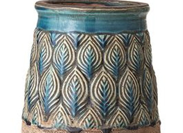 """Embossed Pot, 6"""" tall"""