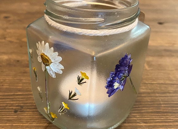 Pressed Flower Luminaria