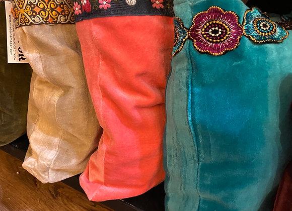 Embellished Velvet Handbag