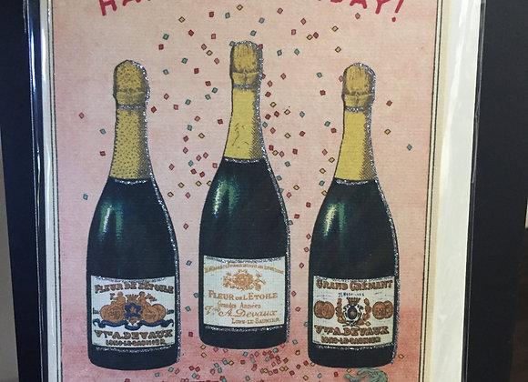 """Happy Birthday"" Champagne Card"