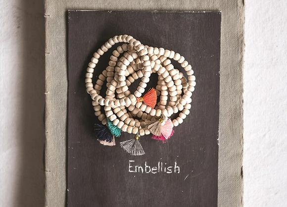 Wood Tassel Bracelet