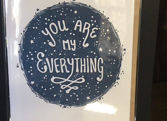 """""""You Are My Everything"""" card"""