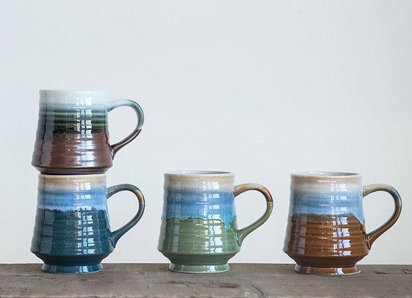 Glazed Contoured Mug