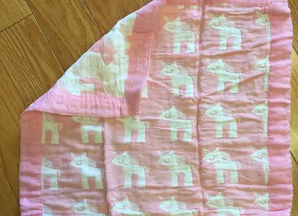 Pink/White Burpcloth/Little Blankie