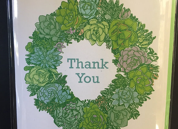 """""""Thank You"""" Succulents card"""