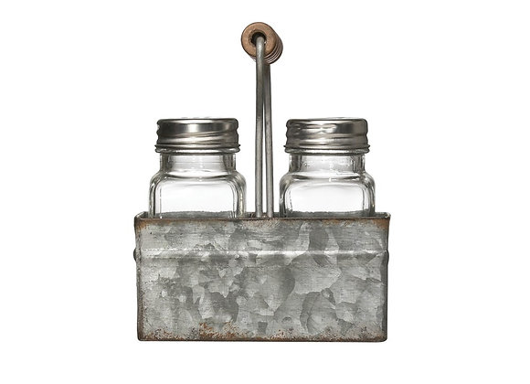 Salt & Pepper Caddy & Shakers