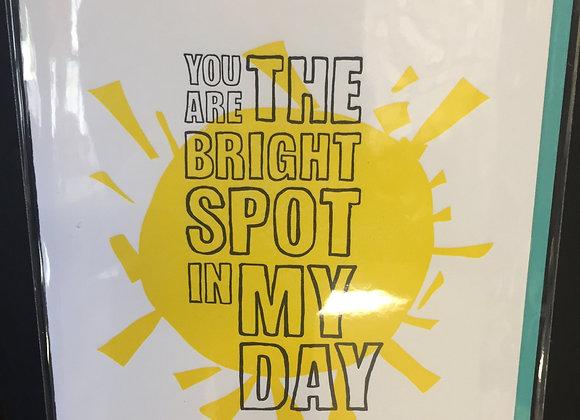 """Bright Spot"" card"