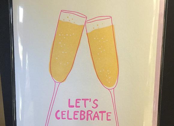 """""""Let's Celebrate"""" card"""