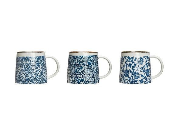 Blue/White Stamped Mug