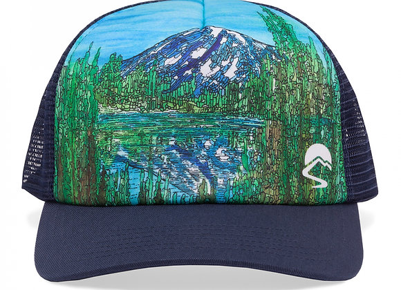 """Alpine Reflection"" Trucker Hat"