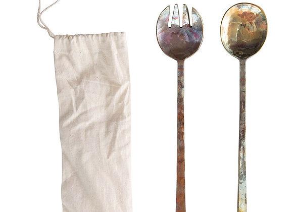 Copper Serving Spoons (set of 2)