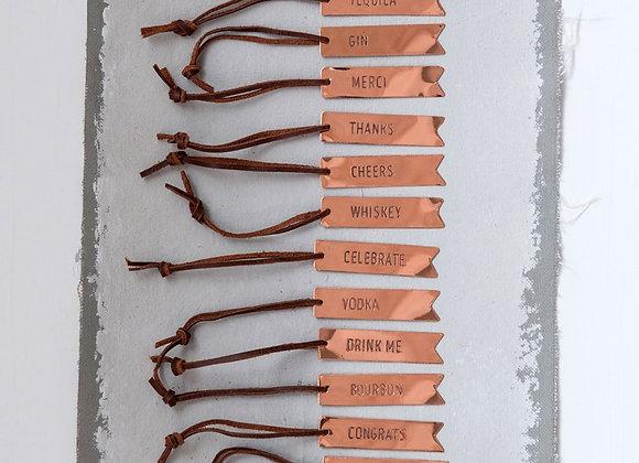 Copper Wine Tag