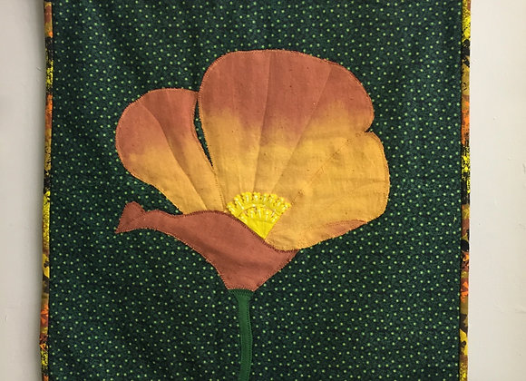 Fabric Poppy Wall Hanging
