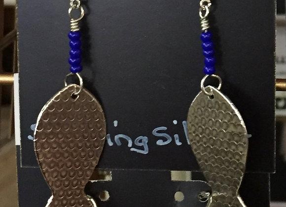 Sterling Silver / Glass Bead Earrings