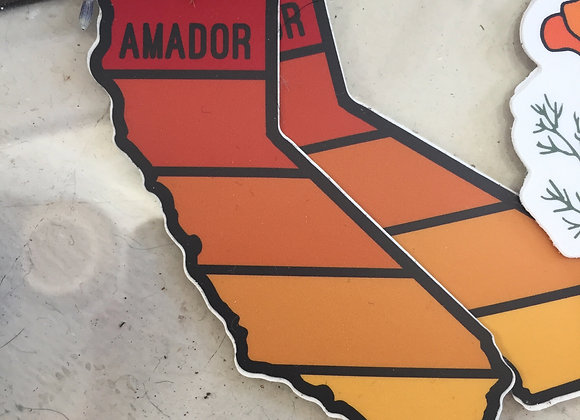 """AMADOR"" CA state sticker"