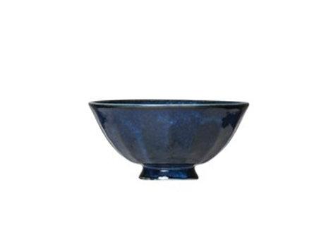"5"" Blue Glazed Bowl"