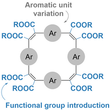 Preprint: Functional Group Introduction and Aromatic Unit Variation in π-Conjugated Macrocycles