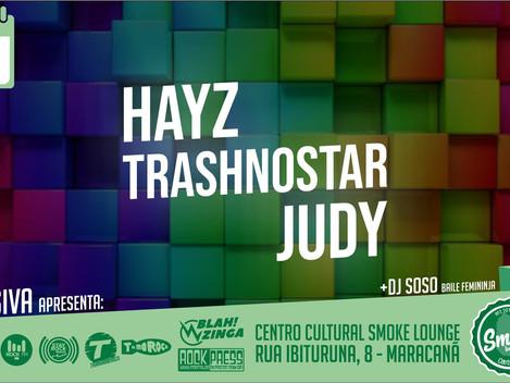 Efusiva apresenta HAYZ, Trash No Star e Judy and the Outsiders no Smoke Lounge / Rio de Janeiro