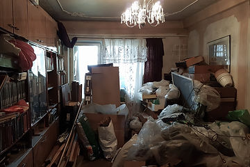 Apartment of a pensioner who suffers fro