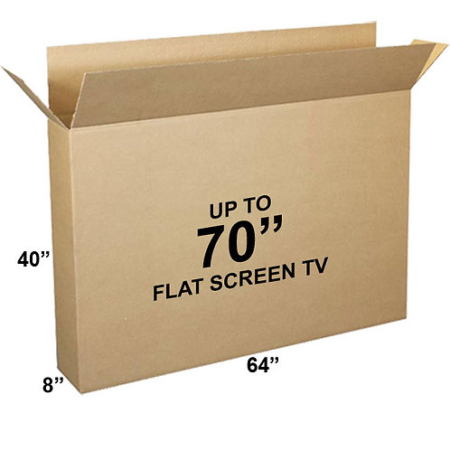 "1 Television Box holds 62""-70"" TV (64x40x8)"