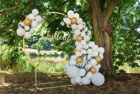 modern wedding arch, inflatable balloons
