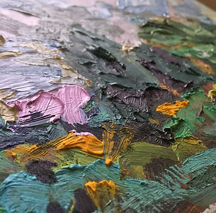Oil landscape painting textures