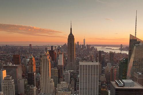 New York Skyline- Sunset