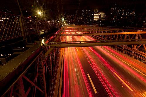 Light Trails- Brooklyn Bridge