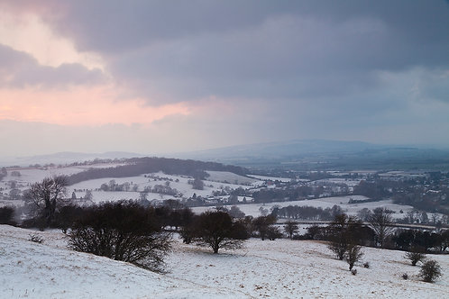 Broadway Hill in the Snow- Cotswolds