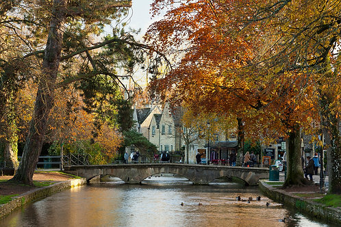Bourton-on-the-Water at Autumn- Cotswolds