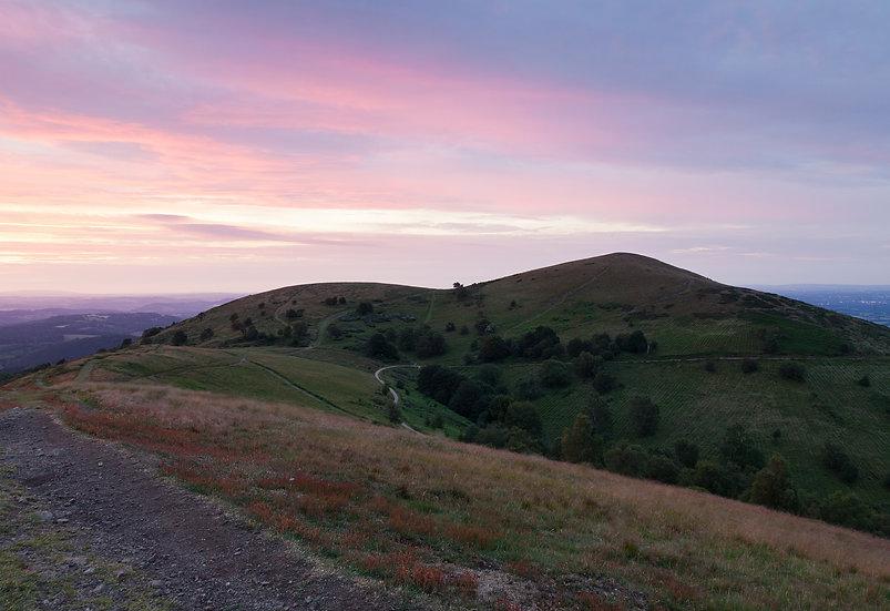 North Hill at dusk- Malverns, Worcestershire