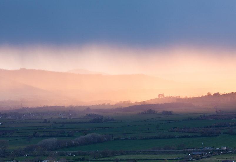Rain over Bredon Hill, Worcestershire