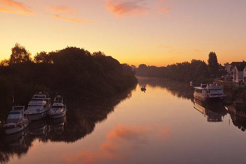 Upton upon Severn sunrise, Worcestershire