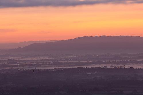 Bredon Hill sunrise, Worcestershire