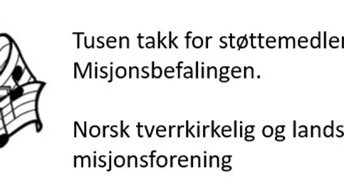 Støttemedlemskap Misjonbefalingen