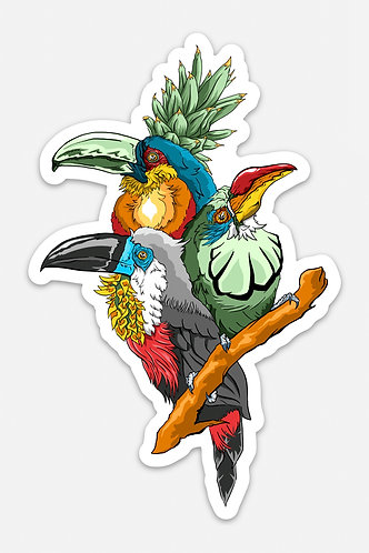 "Toucan Fiesta 5"" Sticker"